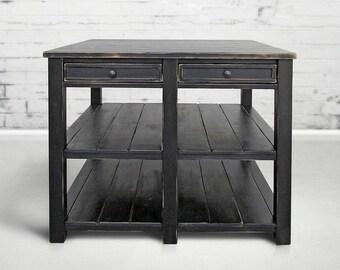 Table, Kitchen Island, Reclaimed Wood, Handmade