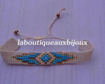Woven Friendship Bracelet, bracelet seed beads. Bohemian bracelet
