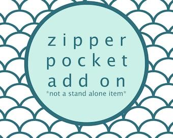 Zipper Pocket Add On For OhSoRetro Mens Billfold Wallet