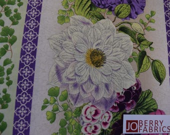 Spring Flowers from the Flower Show Collection by Ann Rowan for Wilmington Prints, Quilt or Craft Fabric. Fabric by the Yard.