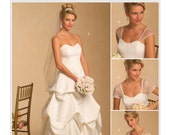 Pick Your Size - Butterick Wedding Dress Pattern B5184 -  Misses' Pick-Up Bridal Gown with Detachable Sleeves in Three Variations