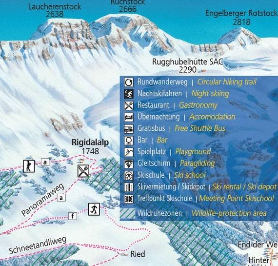 2017 ENGELBERG TITLIST Switzerland Ski Map
