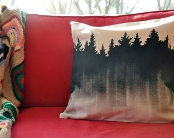 Lumberjack Cushion cover / case tiles / Hunter / cover Christmas / pine tree / hunter check / cottage pillow / rustic / rustic
