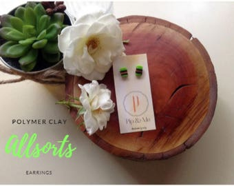 Allsorts Polymer Clay Earrings