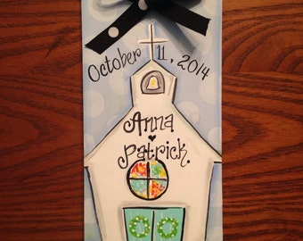Wedding date ornament, first christmas, wedding gift, christmas ornament