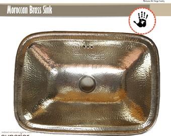 Marokkanische  Messing oder silber  verchromt   100% Handarbeit Waschbecken direkt vom Hersteller