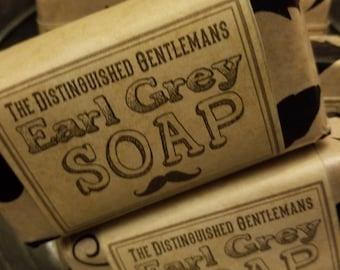 Earl Grey Distinguished Gentlemens, Goats Milk and Hemp Soap, 4 Ounce Bar