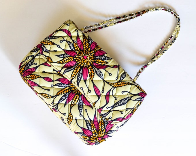Wildflower Quilted Handbag // African Print