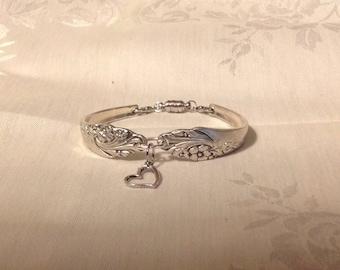 Beautiful repurposed silverware bracelet with magnetic closure