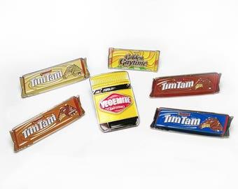 AUSTRALIAN FOOD PIN collection Set -  Enamel Lapel Pins