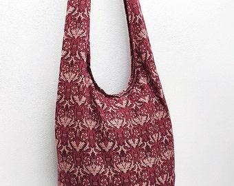Women bag Handbags Thai Cotton bag Hippie bag Hobo bag Boho bag Shoulder bag Sling bag Messenger bag Tote bag Crossbody bag Purse Red