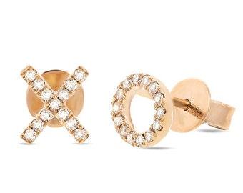 Beautiful 14k XO Gold Diamond Earring 150-312