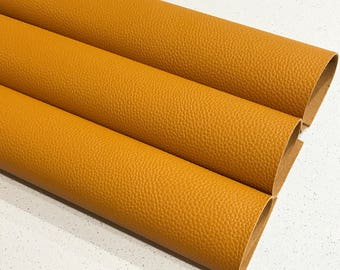 Mustard Leatherette  Thick Textured Sheet 1.2mm Thickness A4 or A5 Size Faux Leather Fabric Mustard B