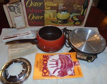 OSTER ELECTRIC FONDUE set. Fondue set. Fondue pot. Electric fondue. oster.