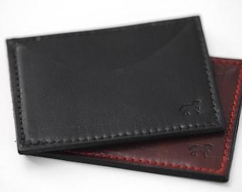 The Bowman Minimalist Quick Access Wallet No. 1   Minimalist Wallet   Card Wallet   Leather Wallet   Men's Wallet   Simple Wallet