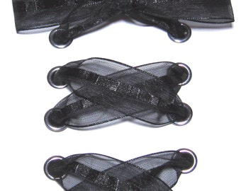 THE SHOELACES SHOP-Black Organza Satin Ribbon Shoelaces, Ribbon Shoe Laces, Satin Shoelaces, Organza Shoelaces, Shoestrings, Black Shoelaces