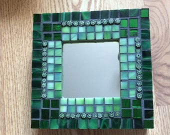 Stained Glass Mosaic Green Mirror