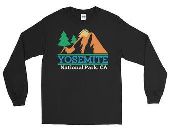 Vintage Yosemite National Park Long Sleeve T-Shirt