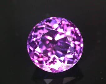 8.1 ctw. blue purple sapphire loose gemstone.