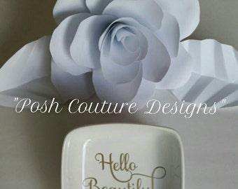 Hello Beautiful Ring Dish/ Ring Dish/ Jewelry Dish/ Bridesmaid Gift/ Bridal Gift/Anniversary Gift/ Custom Jewelry Dish/ Gift For Her