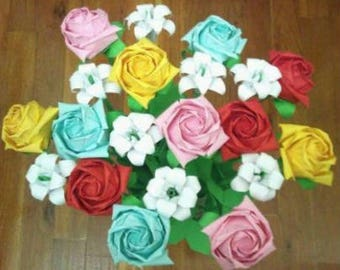 Paper Origami Single Roses