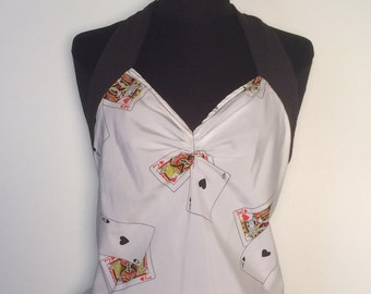 Reworked SILK Poker Halter / Vegas Baby! / By Super Lucky Cat / Small