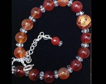 Carnelian Dragon Bracelet (adjustable)