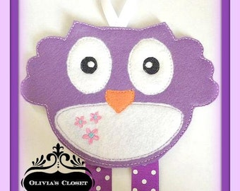 Owl Bow Holder Clip Keeper Clip Holder for Hair Clips/ Pins OR Headbands