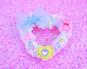 MADE TO ORDER-Sweet Lolita Hair Accessory-Fairy Kei Accessory-Alligator Clip-Women's Hair Accessory-kawaii accessory-Lolita head accessory