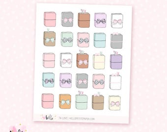 TN Love sticker sampler - 25 cute, hand-drawn planner stickers