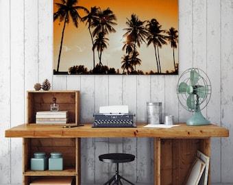 50%OFF,  Palm Tree Print Palm Leaves Print, Nature Decor Modern Palm Print Beach Poster Palm Leaf Printable