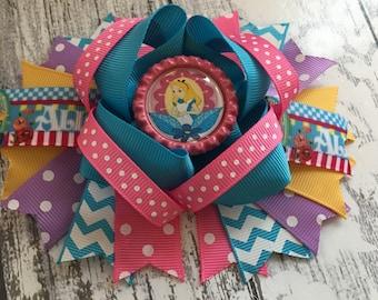 Alice in Wonderland 4.5 inch Stacker Hair Bow xx