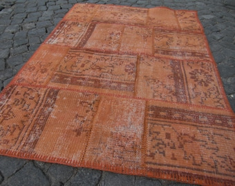 rugs patchwork, rug overdyed small, kitchen rug,