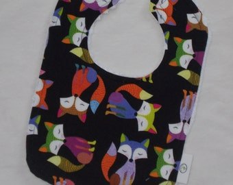 Black Foxes Chenille Boutique Bib