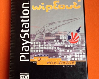 Authentic LONGBOX Complete Wipeout Playstation Video Game!