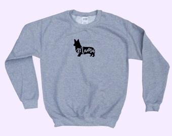"Corgi ""MAMA"" - Dog Mama Crewneck Sweatshirt"