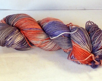 Sad Halloween on SW Merino/Nylon Hand dyed  Max Sport weight  yarn