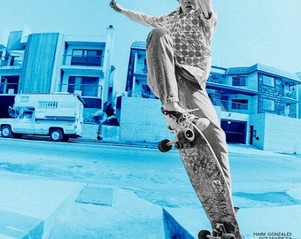 """Mark Gonzales Skateboarding Poster, J Grant Brittain Skateboarding """"Archive"""" Show Limited Edition 16X20"""" Poster"""