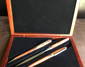 Pen, pencil, letter opener set