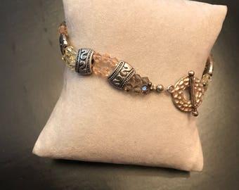 Beaded bracelet, womans bracelet, charm bracelet, handmade bracelet, jewelry bracelet