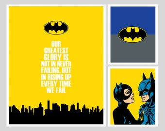 Special Discount - Superhero 3in1 MegaBundle - Get 3 prints for the price of 1, Superhero Posters on Sale