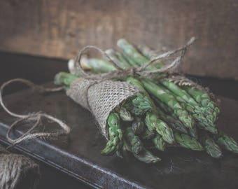 Rustic Food Fine Art - Kitchen Decor - Still Life Wall Art - Farmhouse Simplistic - Asparagus