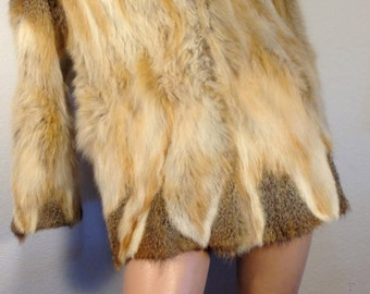FREE  SHIPPING   Red  Fox  Coat