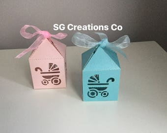 Baby shower favor box