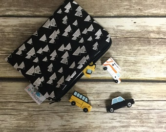 Reusable Snack Bag, Reusable Zipper Bag, Reusable Sandwich Bag, Zipper Pouch, Reusable, Mountains Snack Bag, Lunch Bag, Reusable Bag