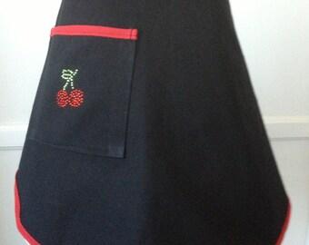 Black Cherry Bling Denim Hostess Apron