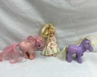 My Little Pony G1 Lot of 3 - Romper, Cotton Candy and Megan