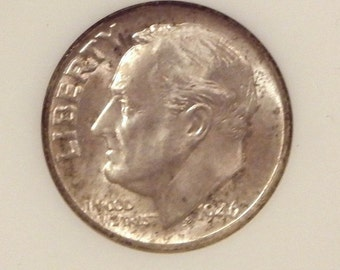 1946 Roosevelt Dime NGC MS66