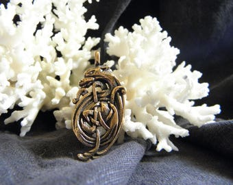 Mother's Day Celtic wolves necklace Free Shipping!