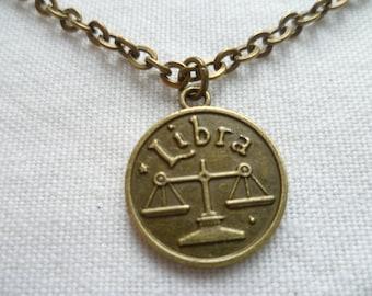 Libra necklace,zodiac jewelry,libra jewelry,zodiac necklace,personalised,birthday gift,horoscope,star sign jewellery,handmade,libra pendant